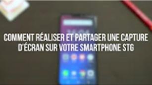 Comment réaliser et partager une capture d'écran sur votre smartphone STG